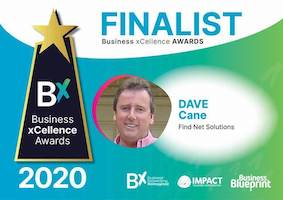Find Net Solutions National Finalist in Business Excellence Awards 2020