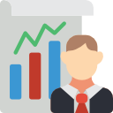 icon image of a chart of stats
