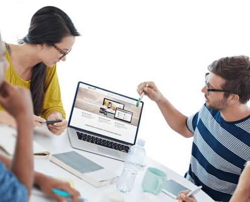 website design team meeting