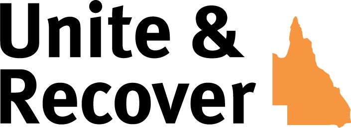 Unite and Recover QLD logo