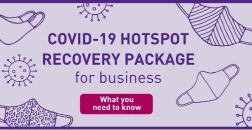 COVID Hotpot Recovery Package for Business banner