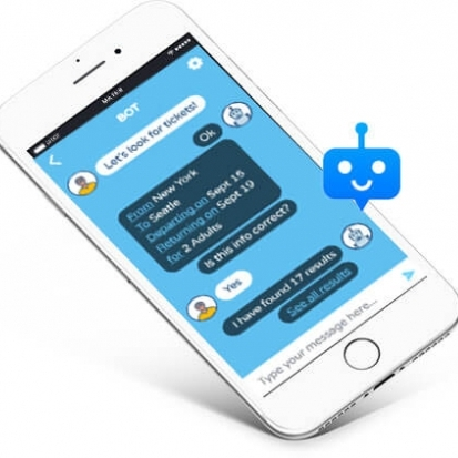 chatbot on a mobile phone